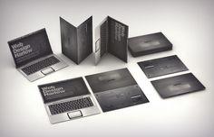computer fold business card