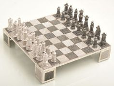 Swarovski-encrusted-chess limited edition chess set is cast in 92.50% pure Silver weighing 1500gms and features 11500 Cubic Zirconia Swarovski Gems in total.
