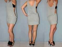 Cut your boyfriend's oversized t-shirt into a dress. #DIY #cuttshirt