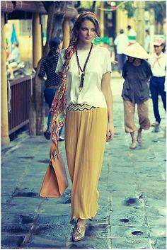 Love! Anthropologie Blue Patula Maxi Skirt. Perfect beach/casual look