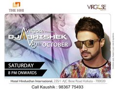 Rev up the party animal in you with limitless Fun and Music this Saptami night. Join DJ Abhishek LIVE on 8th October from 8 pm onwards only at Virgose.   #Virgose #Party #DurgaPuja #Music #Entertainment #HHIKolkata #Kolkata