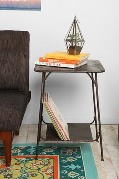Factory Side Table in Grey at Urban Outfitters