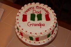 italian flag cake   Italian Flag Birthday Cake