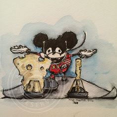 2/366. Mickeys choices. #mousetrap #drawing #mikkemus #mickeymouse