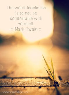 Mark Twain on self love