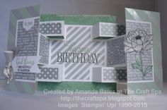 The Craft Spa - Stampin' Up! UK independent demonstrator : Fancy Fold Friday Tutorial for You've Got This! Small Square Double Display Card… the Card with more back!