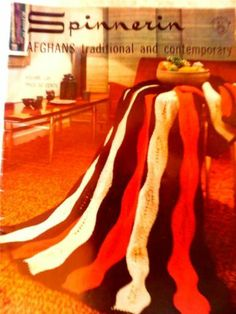 Vintage SPINNERIN AFGHANS TRADITIONALAND CONTEMPORARY Knitting/Crochet