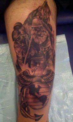 Usmc tattoos marine corps tattoos sgt grit tattoos for Iwo jima tattoo