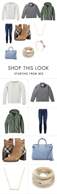 """""""Winter layers are tiring"""" by tphillips356 on Polyvore featuring Lacoste, Patagonia, Hudson, Burberry, BaubleBar, Helmut Lang and RED Valentino"""