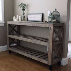 Shoe rack/laundry table for laundry room. Will need to add a hook on the side for my purse.