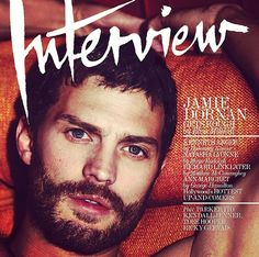 Jamie Dornan's 'Interview' cover. Those eyes! They go right through you. Hit your soul. Do something funny to your insides.