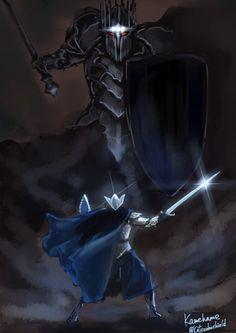 Fingolfin vs Morgoth // by カメハメ