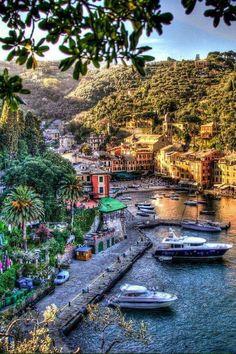 In pretty Portofino, Italy.
