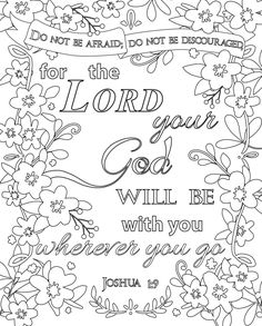 Free Printable Scripture Coloring Pages Coloring Printables & Coloring Printables kids Free Bible Coloring Pages, Quote Coloring Pages, Coloring Pages Inspirational, Printable Adult Coloring Pages, Coloring Pages For Kids, Coloring Books, Kids Coloring, Coloring Bible, Fall Coloring