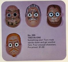 Nutty mask action from the 1970s