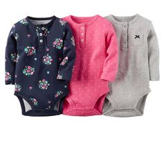 Carters Baby Girls' Floral Long-Sleeve Bodysuit - 3 Pack (6 Months, Navy)   A sweet start to her Fairest of Fall outfits, these bodysuits are a perfect match for 2-pack Read  more http://shopkids.ca/carters-baby-girls-floral-long-sleeve-bodysuit-3-pack-6-months-navy/