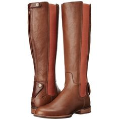 Ariat Waverly (Biscotti/Pumpkin Spice) Women's Pull-on Boots ($224) ❤ liked on Polyvore featuring shoes, boots, knee-high boots, low heel boots, knee boots, faux-leather boots, ariat boots and knee high boots