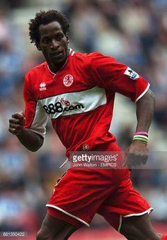 Ugo Ehiogu Middlesbrough Middlesbrough Fc, Wigan Athletic, Aston Villa, Defenders, Boro, Soccer, England, Stock Photos, Futbol