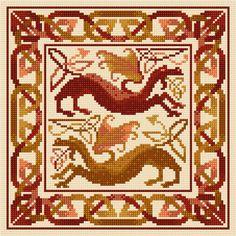 Celtic Dragons Cross Stitch