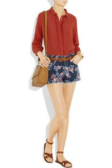 CITIZENS OF HUMANITY  Chloe high-rise printed shorts  $170