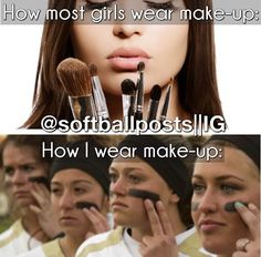 Eye Black Softball Volleyball IdeasYou can find Softball players and more on our website. Funny Softball Quotes, Softball Cheers, Soccer Memes, Softball Pictures, Soccer Quotes, Girls Softball, Softball Stuff, Softball Things, Softball Crafts