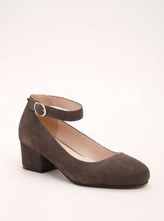 927d56122c0 Genuine Suede Ankle Strap Block Heels (Wide Width)