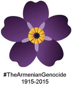 Forget-me-not logo for Armenian Genocide Centennial