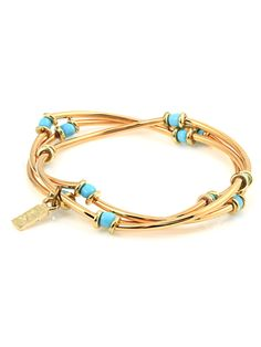 High Strung Bracelet Set - Light Blue