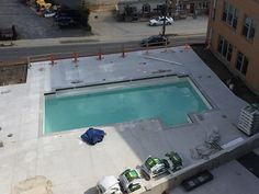 Pool being filled for the first time on July 6th, one step closer!