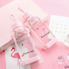 Best Square Cactus Flamingo Glass Cup Water Bottle Portable Water Cup is hot-sale at wholesale prices now, buy Square Cactus Flamingo Glass Cup Water Bottle Portable Water Cup and be enjoyable Mobile. Pink Love, Cute Pink, Pretty In Pink, Peach Aesthetic, Aesthetic Colors, Pusheen, Imagenes Color Pastel, Diy Unicorn, Catty Noir