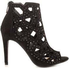 Jessica Simpson Women's Emmsley - Black Micro ($94) ❤ liked on Polyvore featuring shoes, black, black high heel shoes, black suede shoes, sparkly shoes, black stilettos and high heel stilettos