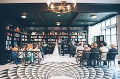Oxford Exchange Wedding - in a bookstore! how fun!