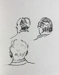 Diverse kerkgangers oa Wietse Leistra.
