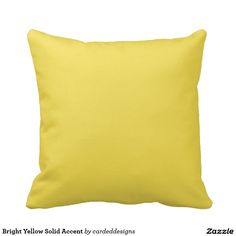 Bright Yellow Solid Accent Throw Pillow