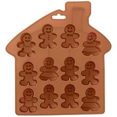 Molde de silicona con 12 cavidades para elaborar pequeños muñecos de jengibre, perfectos para las fiestas navideñas. Ideal para hornear pequeños dulces con tamaño de bocado, para hacer cake pops o piruletas en frío e incluso helados. Fabricado en silicona deexcelente calidad,soporta temperaturas de hasta 260 ºC. Apto para microondas, frigorífico y congelador, es perfecto parahornear y moldear. Se puede lavar en el lavavajillas.