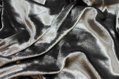 Silk Panné Velvet - Dark Silver and Anthracite