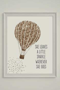 She leaves a little sparkle wherever she goes. Gorgeous print for a little girl's room #affiliate