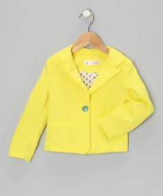 Take a look at this Yellow Blazer - Toddler & Girls by TuTee Swank on #zulily today!