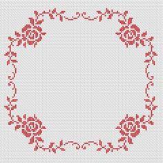 Roses Border cross stitch pattern