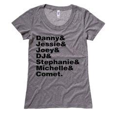 Full House Cast Names Womens T-Shirt