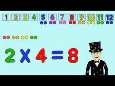You can use Times Tables videos to help your child with learning and then mastering the times tables. Here is a compilation of some times tables videos we r(. Multiplication Songs, Math Songs, Math 2, 2nd Grade Math, Kids Songs, Second Grade, Teaching Kids, Kids Learning, 2 Times Table