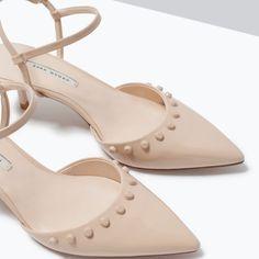 Strappy Shoes, Shoes Heels, Zara Official Website, Zara New, Zara Women, Shoe Collection, Kitten Heels, High Heels, Studs
