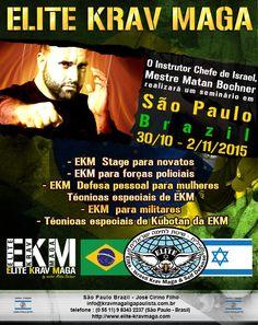 Mestre Matan Bochner, de Israel, realiza seminário de Krav Maga em São Paulo.