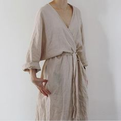 Fashion Tips Outfits Linen dress.Fashion Tips Outfits Linen dress Looks Style, Style Me, Dress For Summer, Beige Outfit, Look Fashion, Fashion Tips, Gothic Fashion, Fashion Clothes, Overalls Fashion