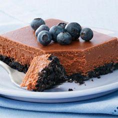 Chocolate Royale Cheesecake Squares - Kraft Mag Fall 2006 Pg 49