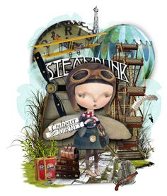 """""""Dilka Bear Steampunk"""" by gailwind on Polyvore featuring art and vintage"""