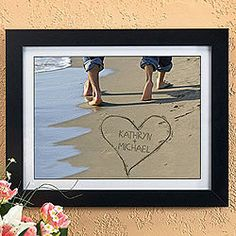 What's more romantic than walking on the beach together, and writing your names in the sand?
