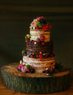 Mixed flavor naked cake