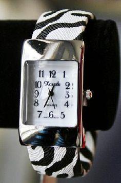 Zebra cuff watch - Classic & beautiful! New!
