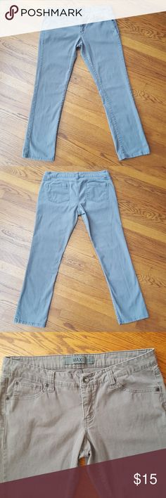 MAX rave skinny jeans Size 13, Grey, with a zipper & button closure. Stretchy, cotton/spandex. Gently previously worn. Max Rave Pants Skinny
